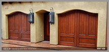 2 Curved Top Wood Doors