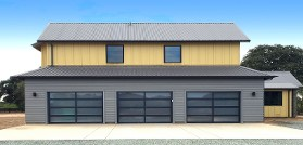3 Port Glass Door Garage